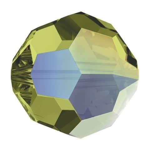 5000 - 6mm Swarovski Round Crystal Bead - Khaki AB