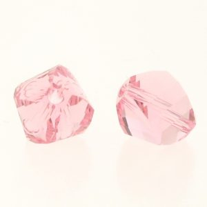 5020 - 4mm Swarovski Helix Beads - Light Rose