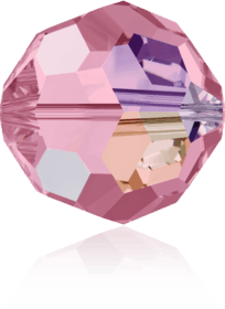 5000 - 6mm Swarovski Round Crystal Bead - Light Rose AB