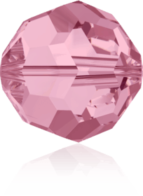 5000 - 6mm Swarovski Round Crystal Bead - Light Rose