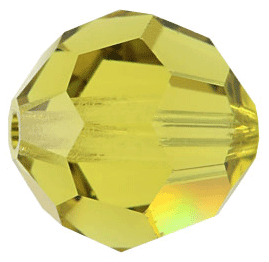 5000 - 6mm Swarovski Round Crystal Bead - Lime