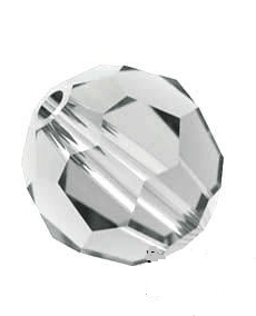 5000 - 6mm Swarovski Round Crystal Bead - Shadow Crystal