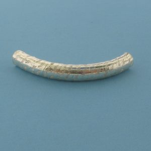1543 - 5x37mm Sterling Silver Design Curved Tube