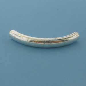 1544 - 5x37mm Sterling Silver Design Curved Tube