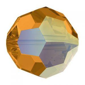 5000 - 6mm Swarovski Round Crystal Bead - Topaz AB