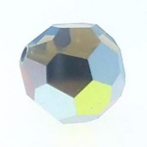 5000 - 6mm Swarovski Round Crystal Bead - White Opal Star Shine