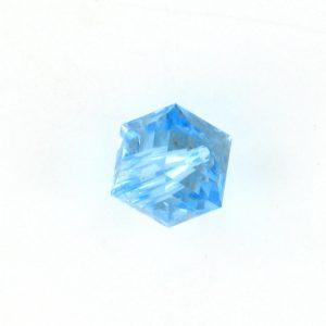 5601 - 4mm Swarovski Cube Crystal - Aquamarine