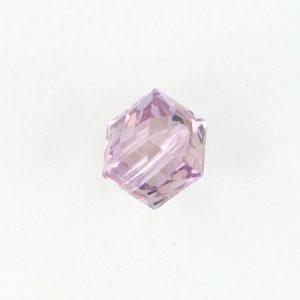 5601 - 4mm Swarovski Cube Crystal - Light Amethyst