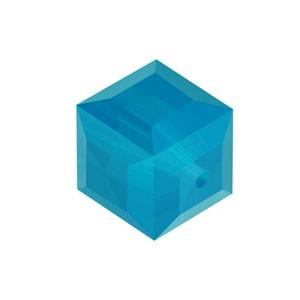 5601 - 4mm Swarovski Cube Crystal - Caribbean Blue Opal