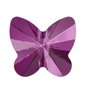 5754 - 8mm Swarovski Butterfly Bead - Fuchsia
