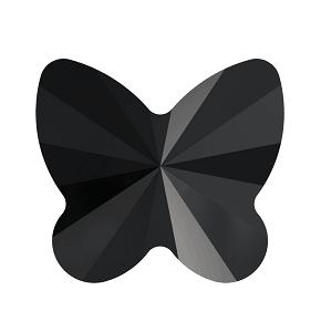 5754 - 8mm Swarovski Butterfly Bead - Jet