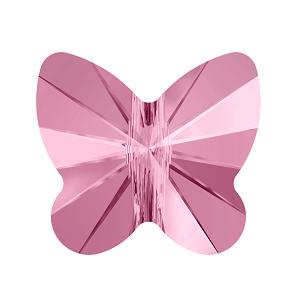 5754 - 8mm Swarovski Butterfly Bead - Light Rose