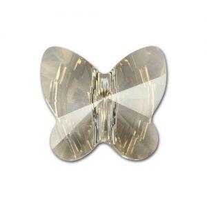 5754 - 8mm Swarovski Butterfly Bead - Silver Shade