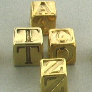 Gold Plated Alphabet Beads