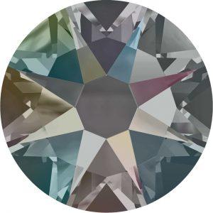 #2028 - SS20 (4.7mm) Swarovski Flat Backs - Black Diamond AB
