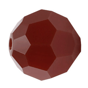 5000 - 3mm Swarovski Round Crystal - Dark Red Coral