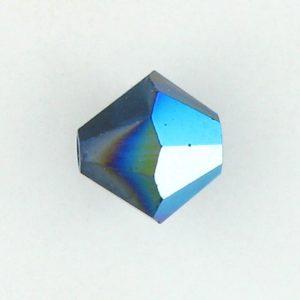 5301/5328 - 8mm Swarovski Bicone Crystal Bead - Dark Indigo AB