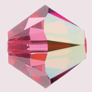 5301/5328 - 8mm Swarovski Bicone Crystal Bead - Indian Pink AB