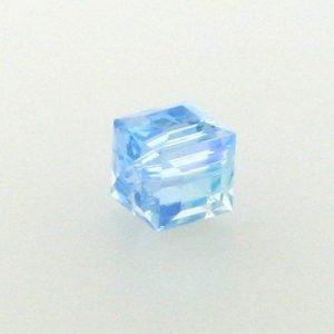 5601 - 4mm Swarovski Cube Crystal - Aquamarine AB