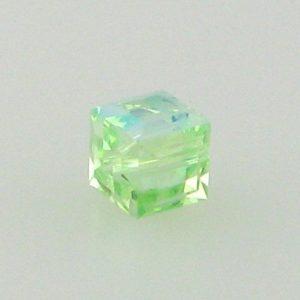 5601 - 4mm Swarovski Cube Crystal - Chrysolite AB