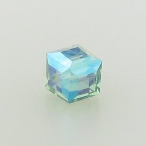 5601 - 6mm Swarovski Cube Crystal - Erinite AB