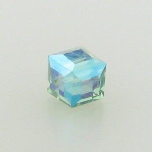5601 - 4mm Swarovski Cube Crystal - Erinite AB