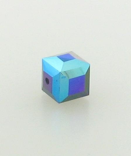 5601 - 6mm Swarovski Cube Crystal - Garnet AB