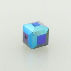 5601 - 4mm Swarovski Cube Crystal - Garnet AB