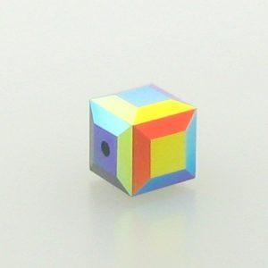5601 - 4mm Swarovski Cube Crystal - Jet AB