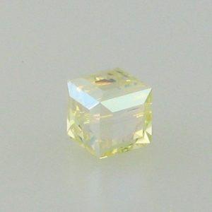 5601 - 6mm Swarovski Cube Crystal - Jonquil AB