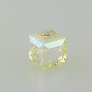 5601 - 8mm Swarovski Cube Crystal - Jonquil AB