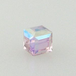 5601 - 6mm Swarovski Cube Crystal - Light Amethyst AB