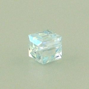 5601 - 6mm Swarovski Cube Crystal - Light Azore AB