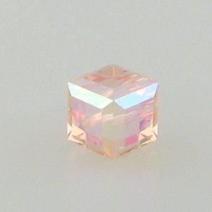 5601 - 4mm Swarovski Cube Crystal - Light Peach AB