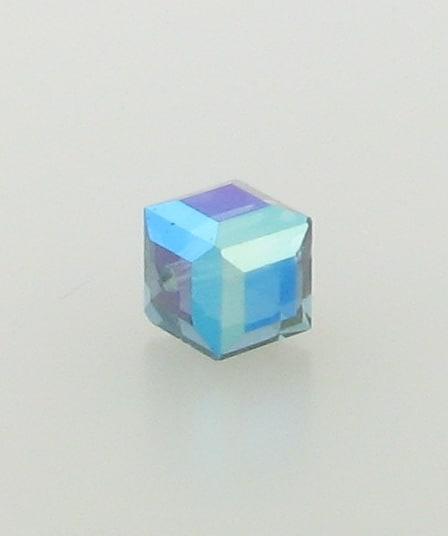 5601 - 8mm Swarovski Cube Crystal - Montana AB