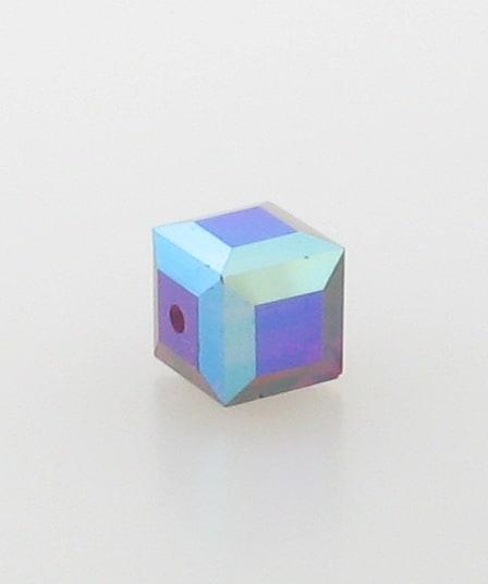 5601 - 6mm Swarovski Cube Crystal - Siam AB