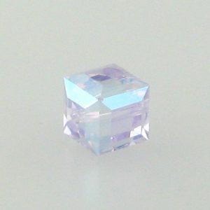 5601 - 4mm Swarovski Cube Crystal - Violet AB
