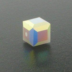 5601 - 8mm Swarovski Cube Crystal - White Alabaster AB