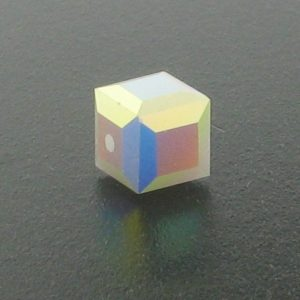5601 - 6mm Swarovski Cube Crystal - White Alabaster AB