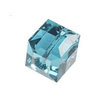 5601 - 4mm Swarovski Cube Crystal - Blue Zircon