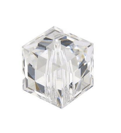 5601 - 12mm Swarovski Cube Crystal - Crystal