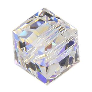 5601 - 12mm Swarovski Cube Crystal - Crystal AB
