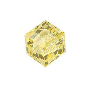 5601 - 6mm Swarovski Cube Crystal - Jonquil