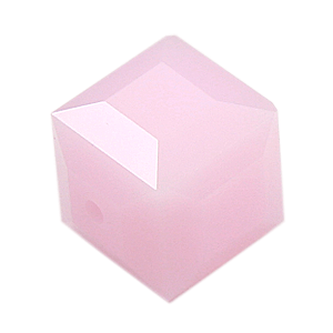 5601 - 6mm Swarovski Cube Crystal - Rose Alabaster