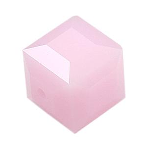 5601 - 4mm Swarovski Cube Crystal - Rose Alabaster