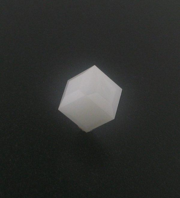 5601 - 6mm Swarovski Cube Crystal - White Alabaster