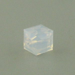 5601 - 4mm Swarovski Cube Crystal - White Opal