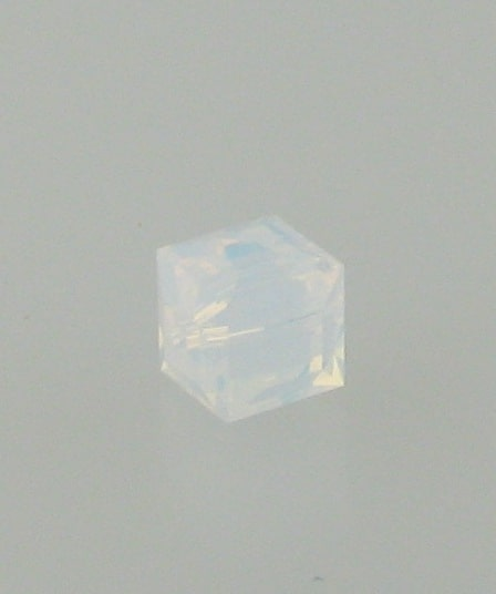5601 - 6mm Swarovski Cube Crystal - White Opal