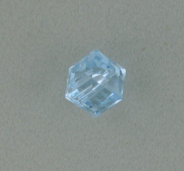 5601 - 6mm Swarovski Cube Crystal - Alexandrite