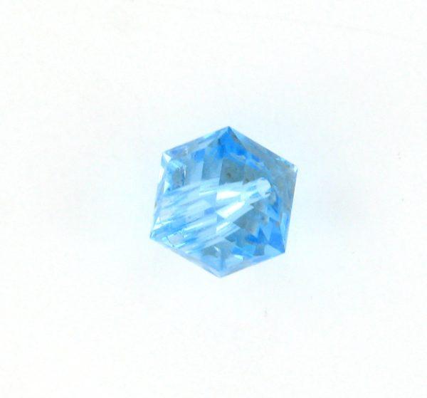 5601 - 6mm Swarovski Cube Crystal - Aquamarine
